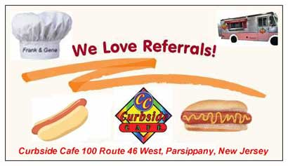 Curbside Cafe Famous Hot Dogs 100 West Route 46, Parsippany, New Jersey