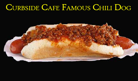 Curbside Cafe's Famous Chili Dog (W/O Cheese) - Authentic Photo by Pete Genovese - Munchmobile Star Ledger Reporter