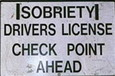 EOPD Sobriety Check Point Ahead