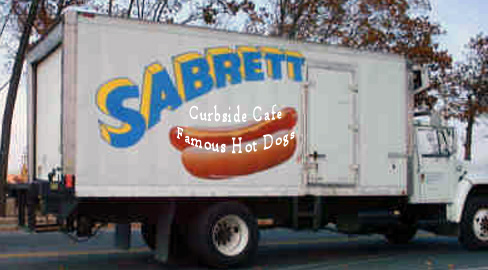 Sabrett Hot Dog Truck Going To Curbside Cafe